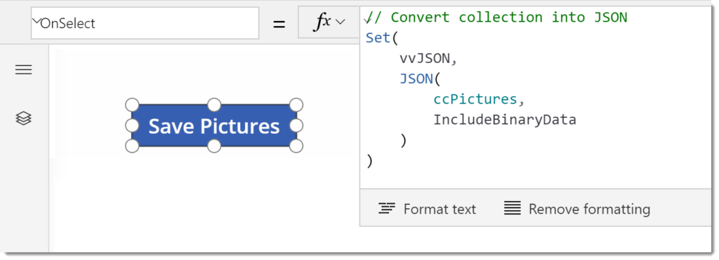 PowerApps - Using JSON Function to save Pictures - Hat Full